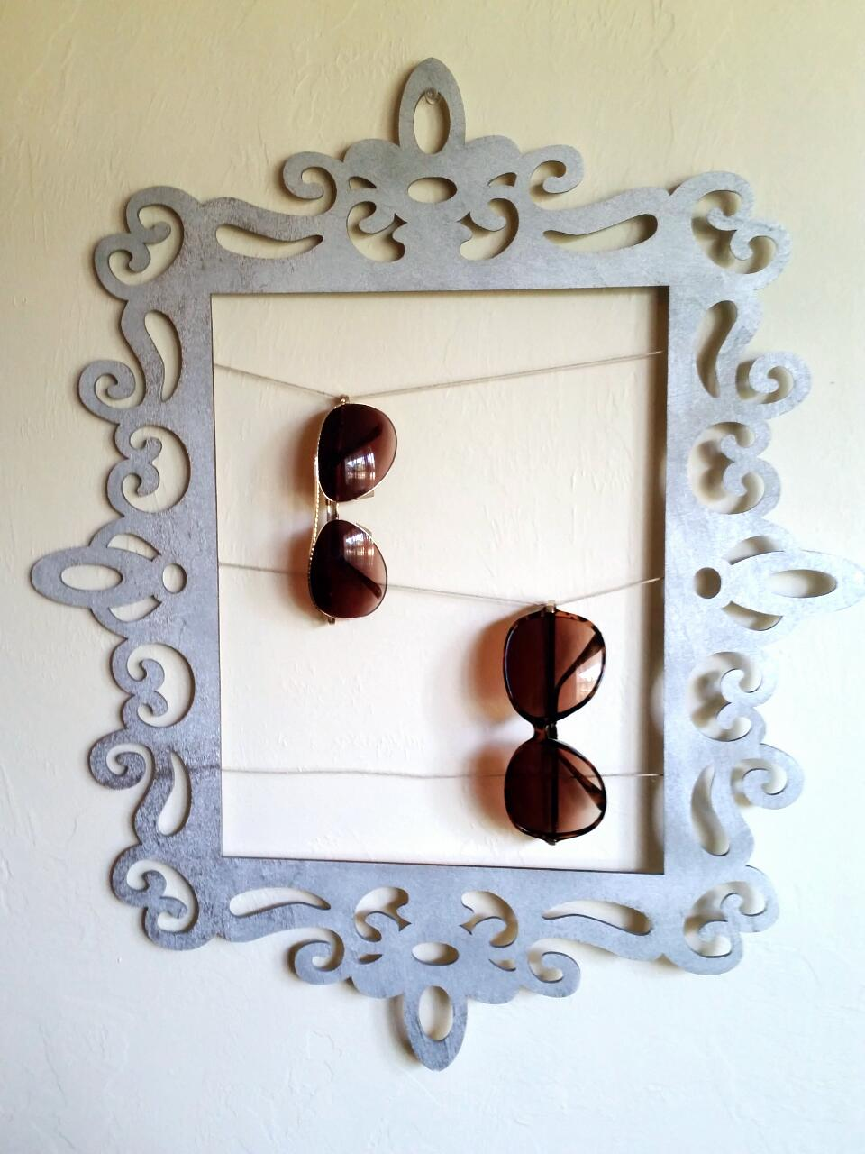 Sunglasses Holder  diy framed sunglasses holder sweet teal