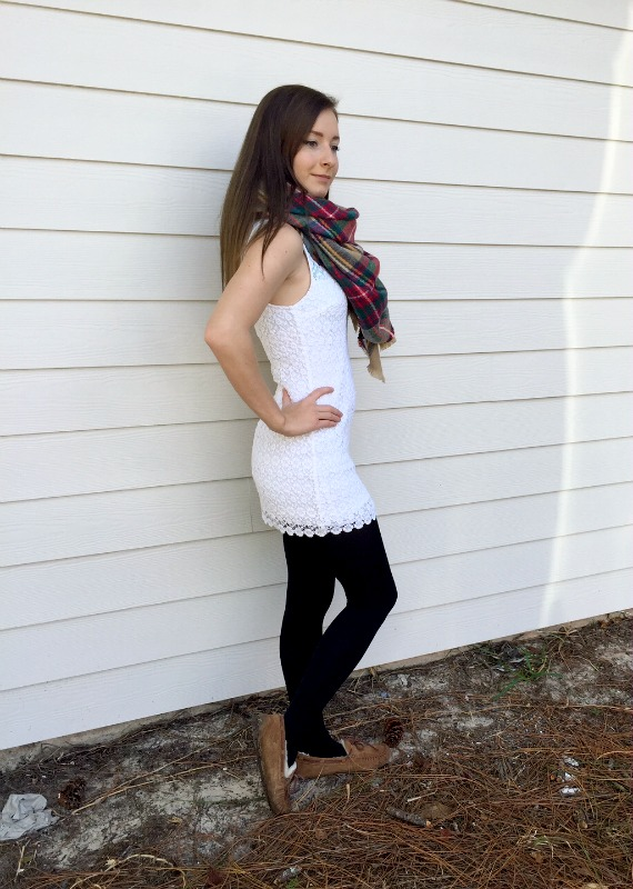 colder weather scarf necklace outfit