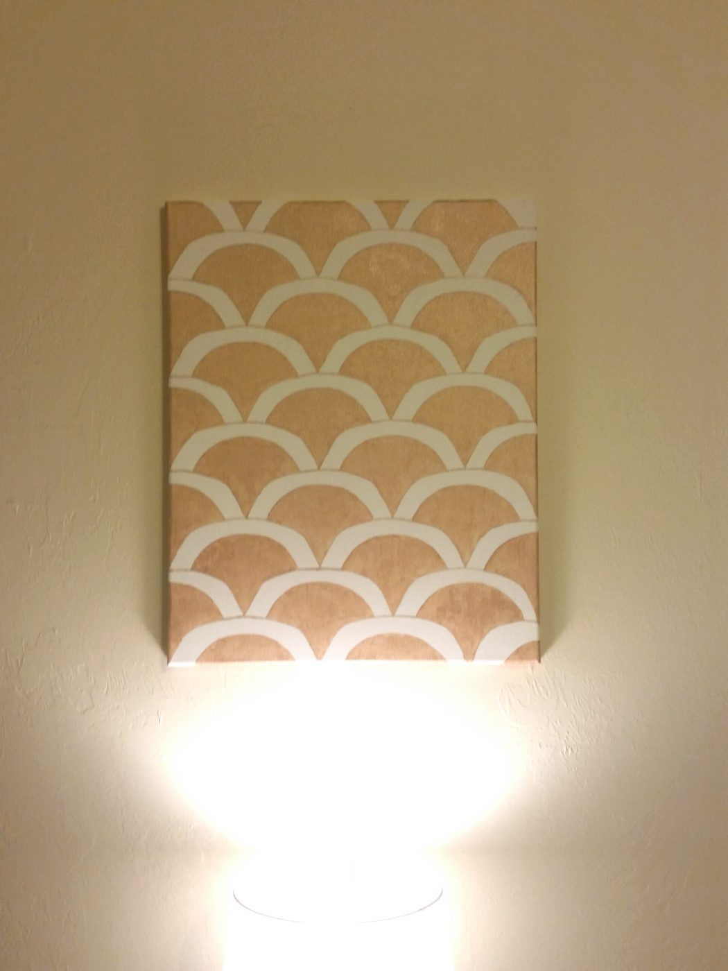 diy scalloped wall art painting