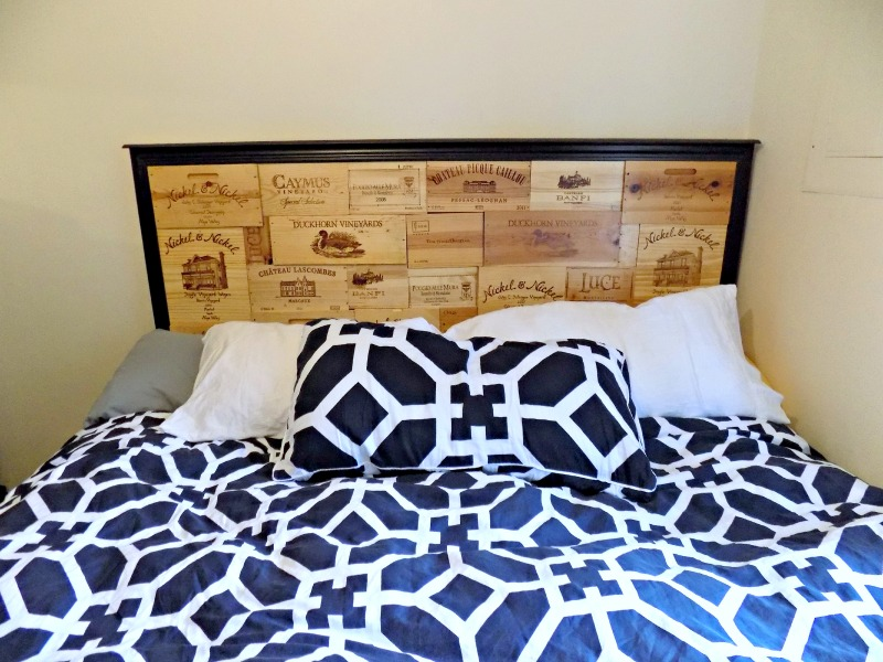 DIY Wine Crate Headboard