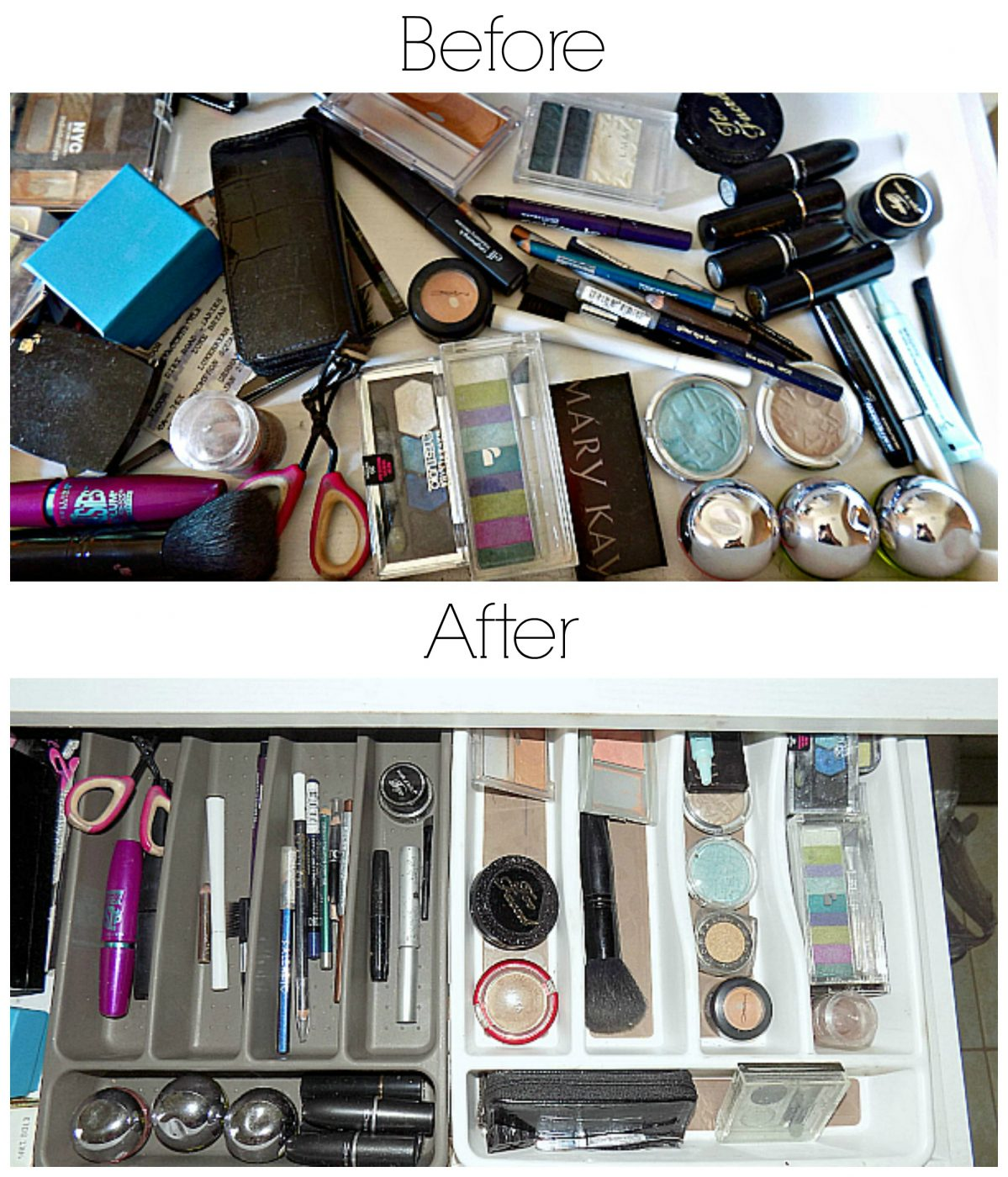 How To Organize A Makeup Drawer + A Giveaway