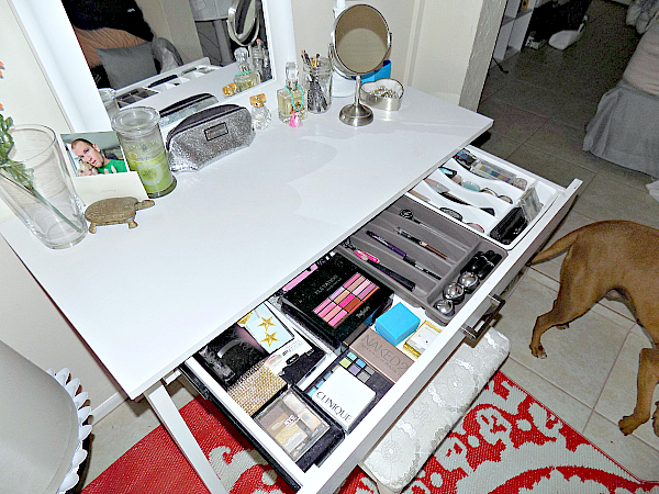 how to organize a makeup drawer and a giveaway