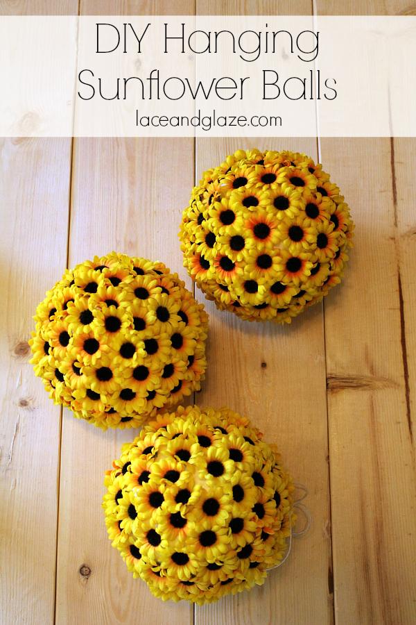 diy hanging sunflower balls