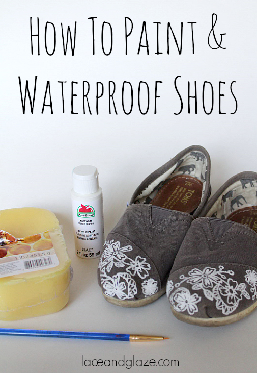 how to paint and waterproof shoes diy
