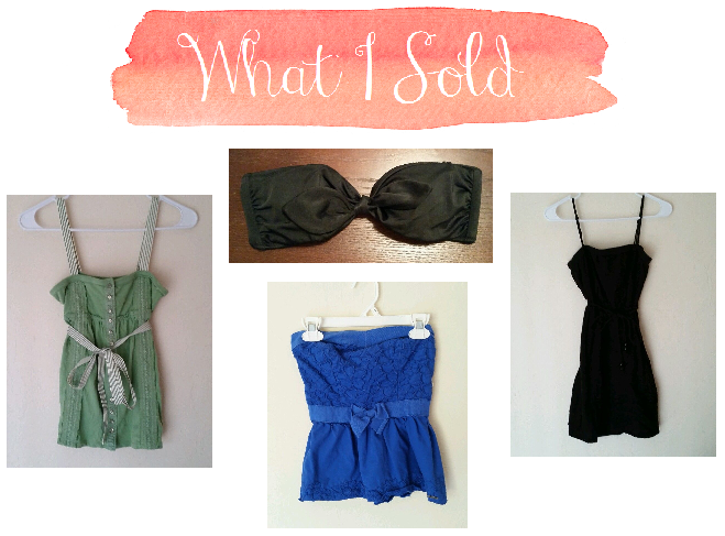 budgeting bloggers what I sold march shopping budget