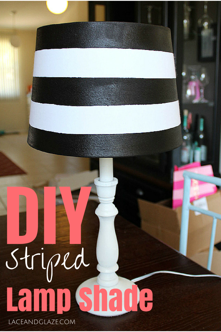DIY Striped Lamp Shade