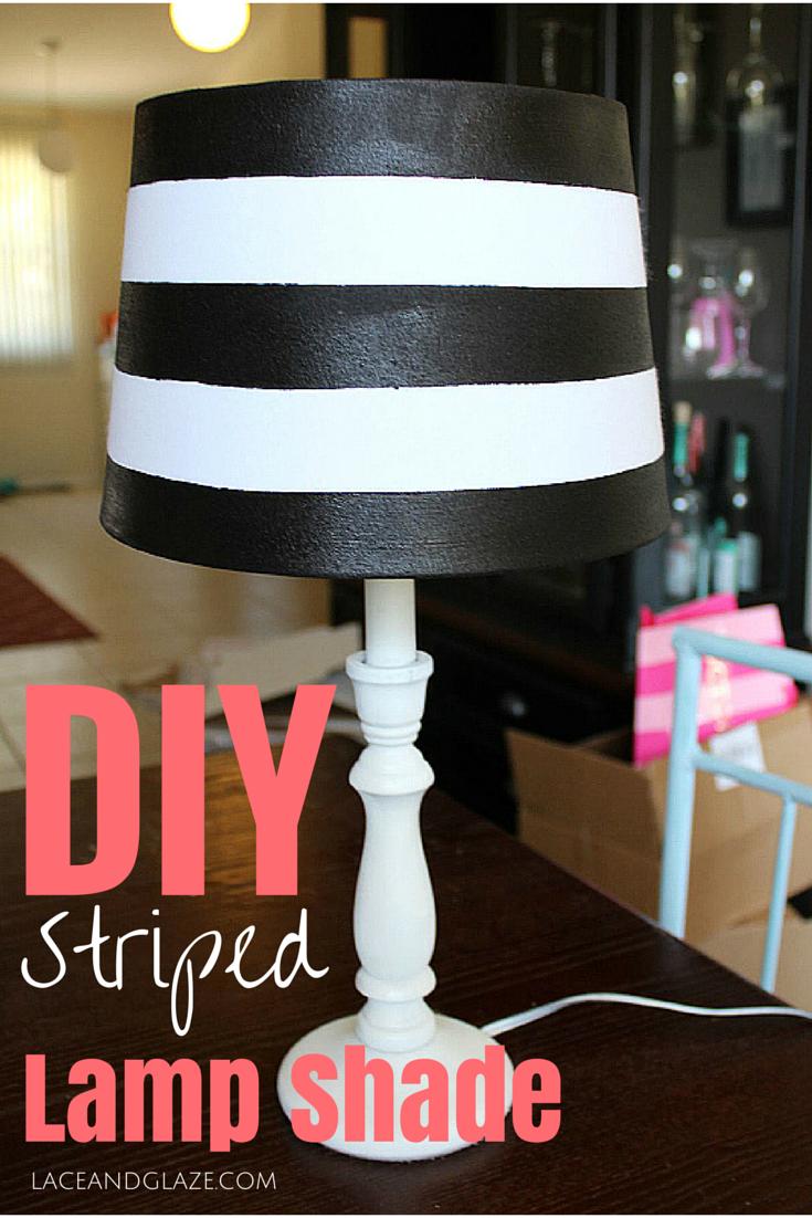 DIY Striped Lamp Shade