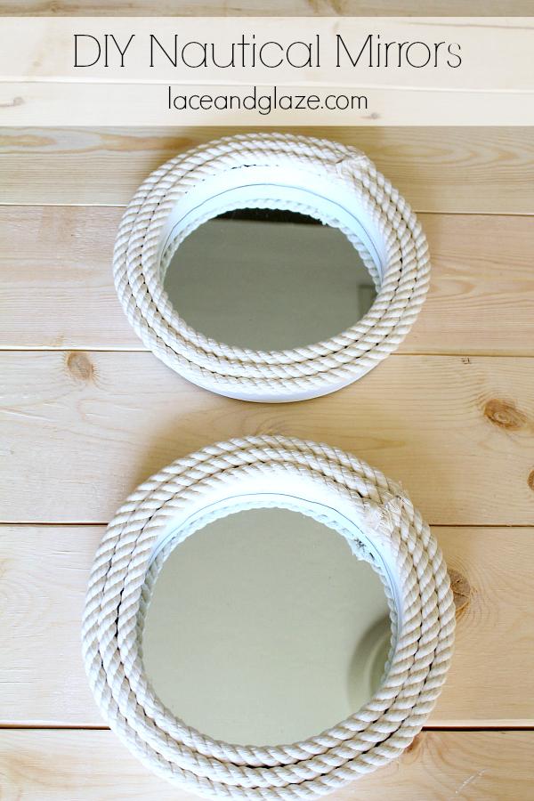 DIY Nautical Mirrors