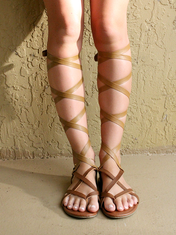 diy gladiator sandals for under $25