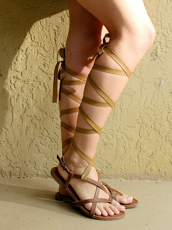 diy gladiator sandals 8