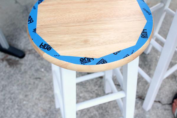 diy painted bar stools 4