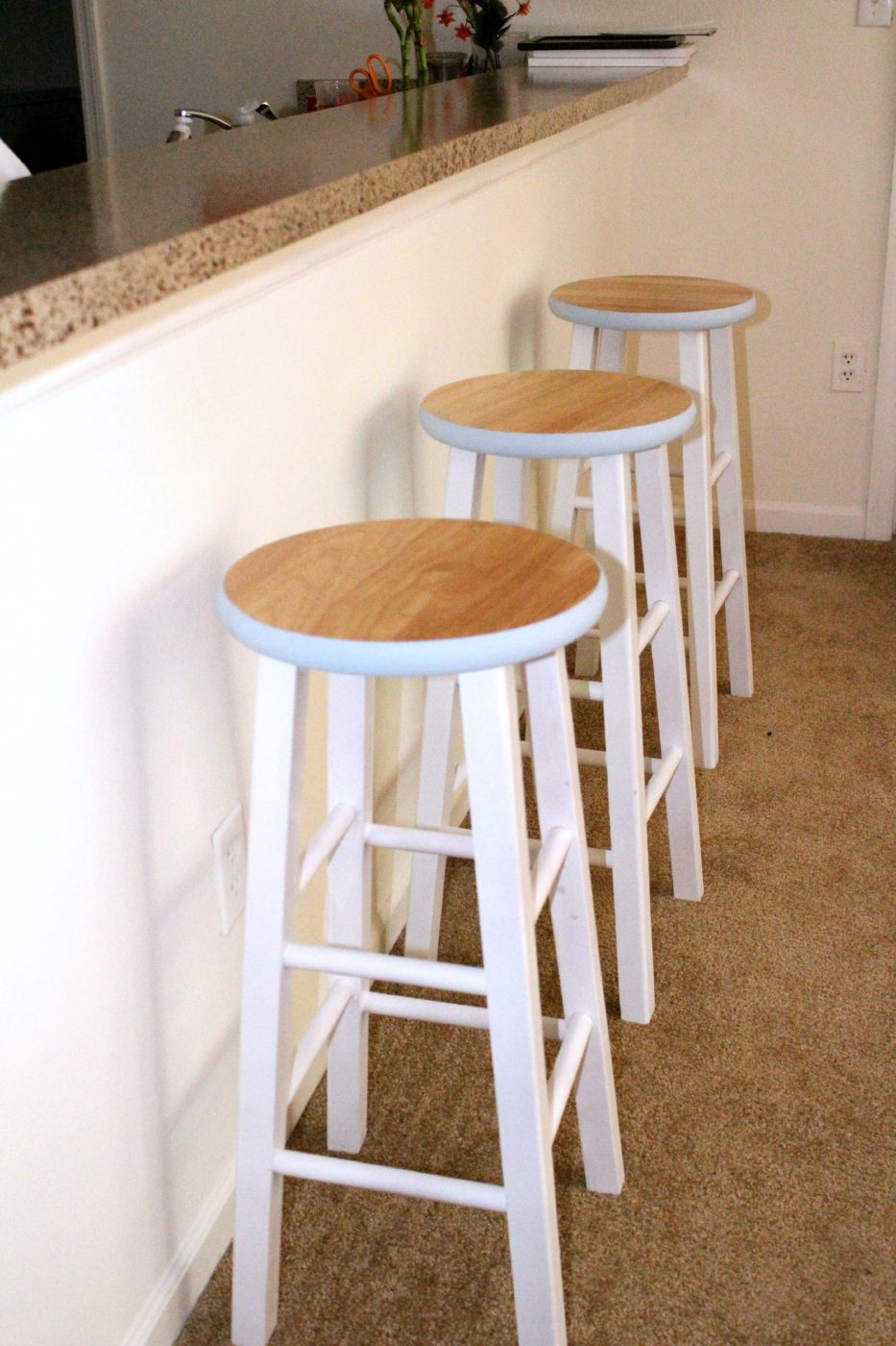 DIY Painted Bar Stools