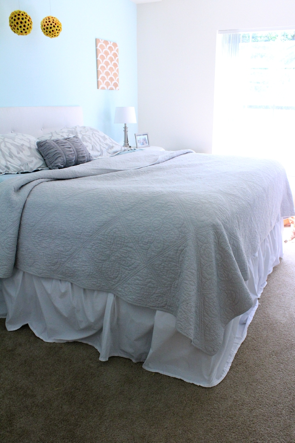 how to make a bed skirt, no sewing