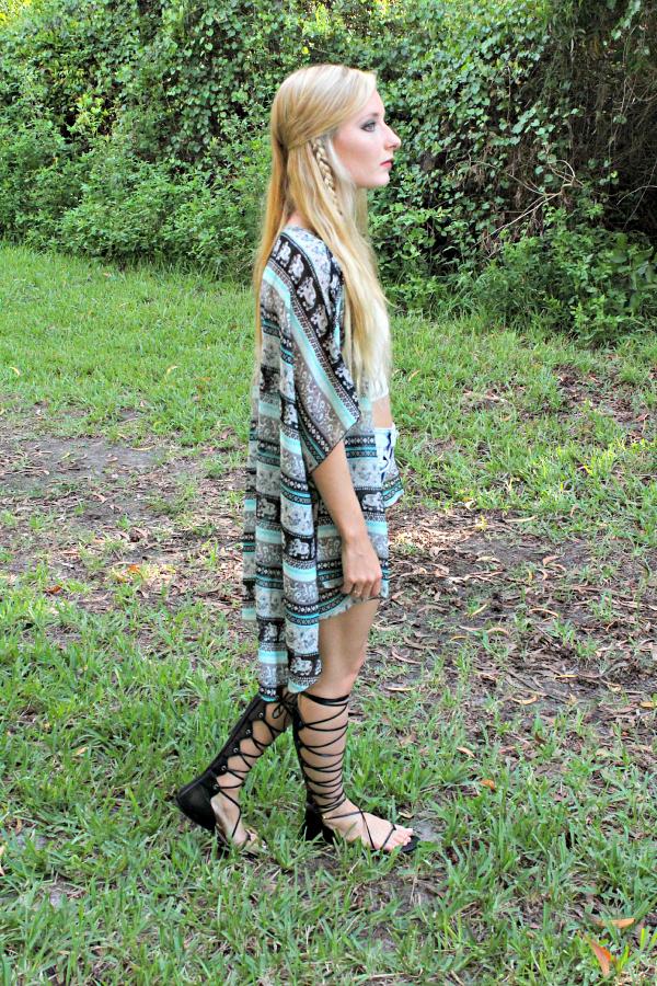 wanderlust gladiator sandals braids outfit 1