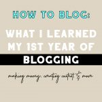 What I've Learned in my 1st Year of Blogging