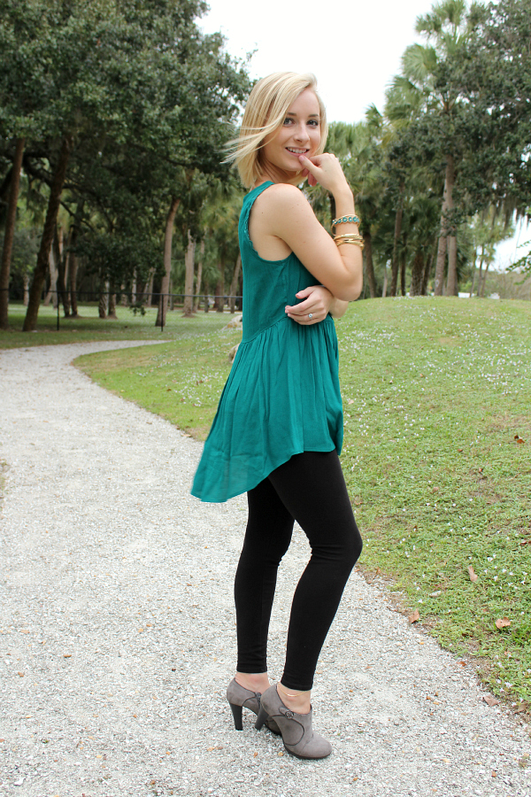 The perfect teal outfit!