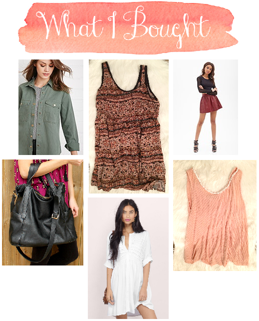 what i bought october budgeting bloggers