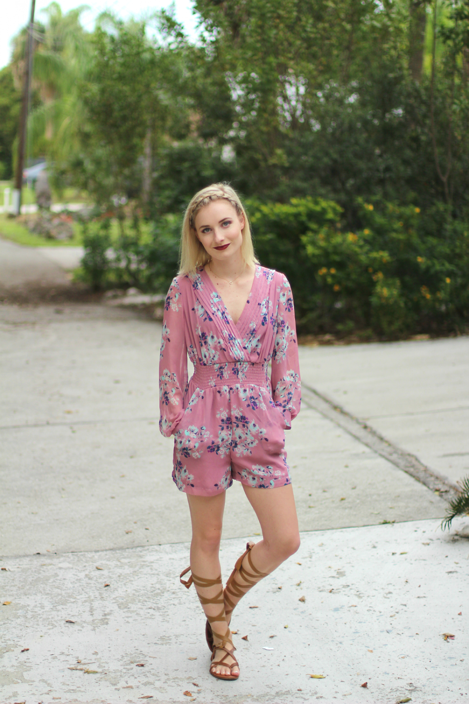 Valentine's Day Romper Look