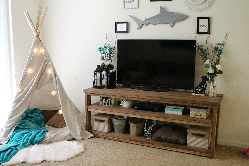 DIY 10 minute teepee for under $20!