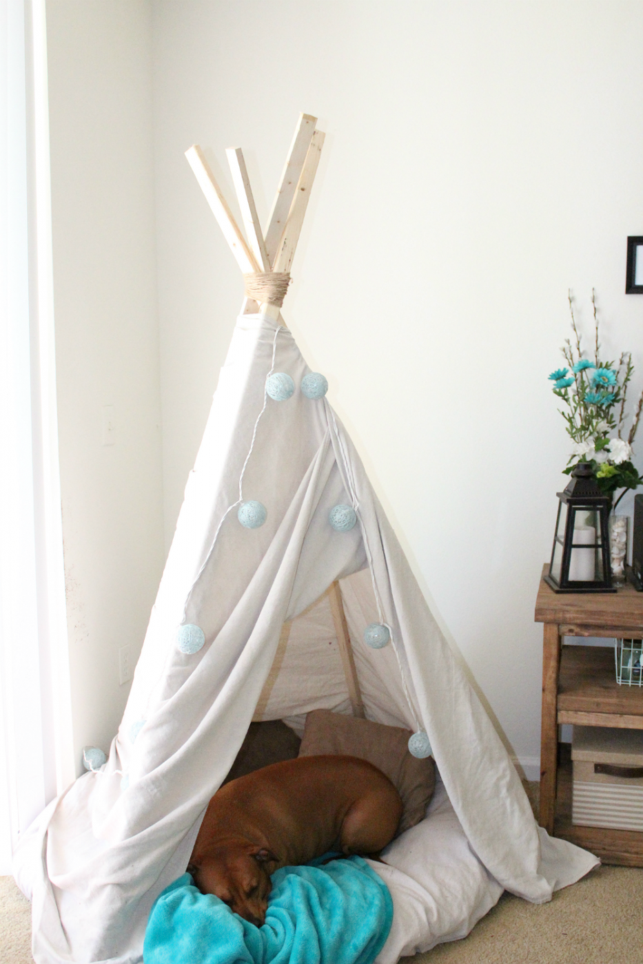 DIY 10 Minute Teepee for Under $16! | Sweet Teal