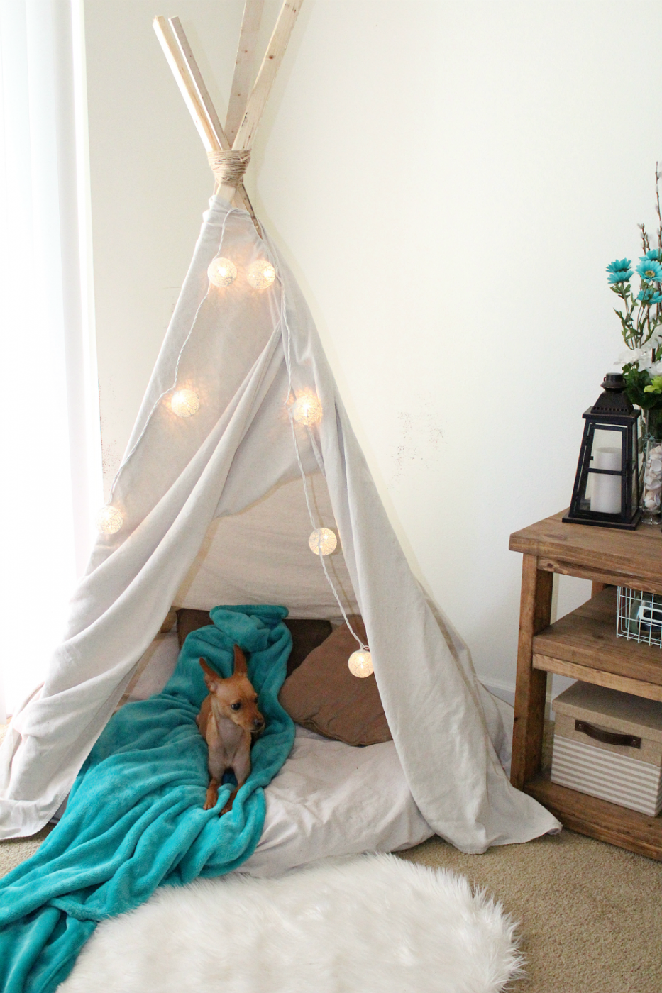Diy 10 Minute Teepee For Under 16 Sweet Teal