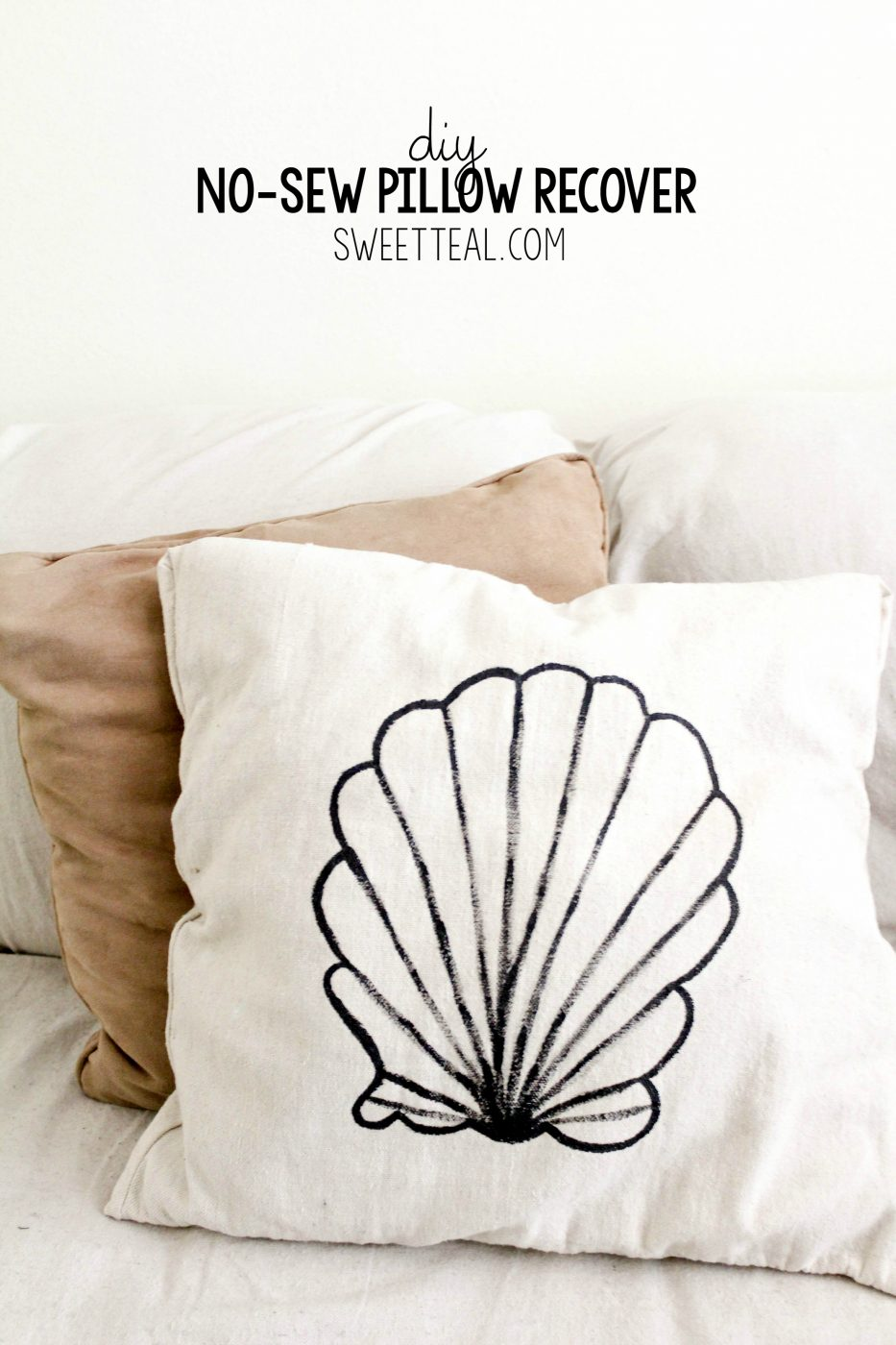 DIY No-Sew Pillow Recover
