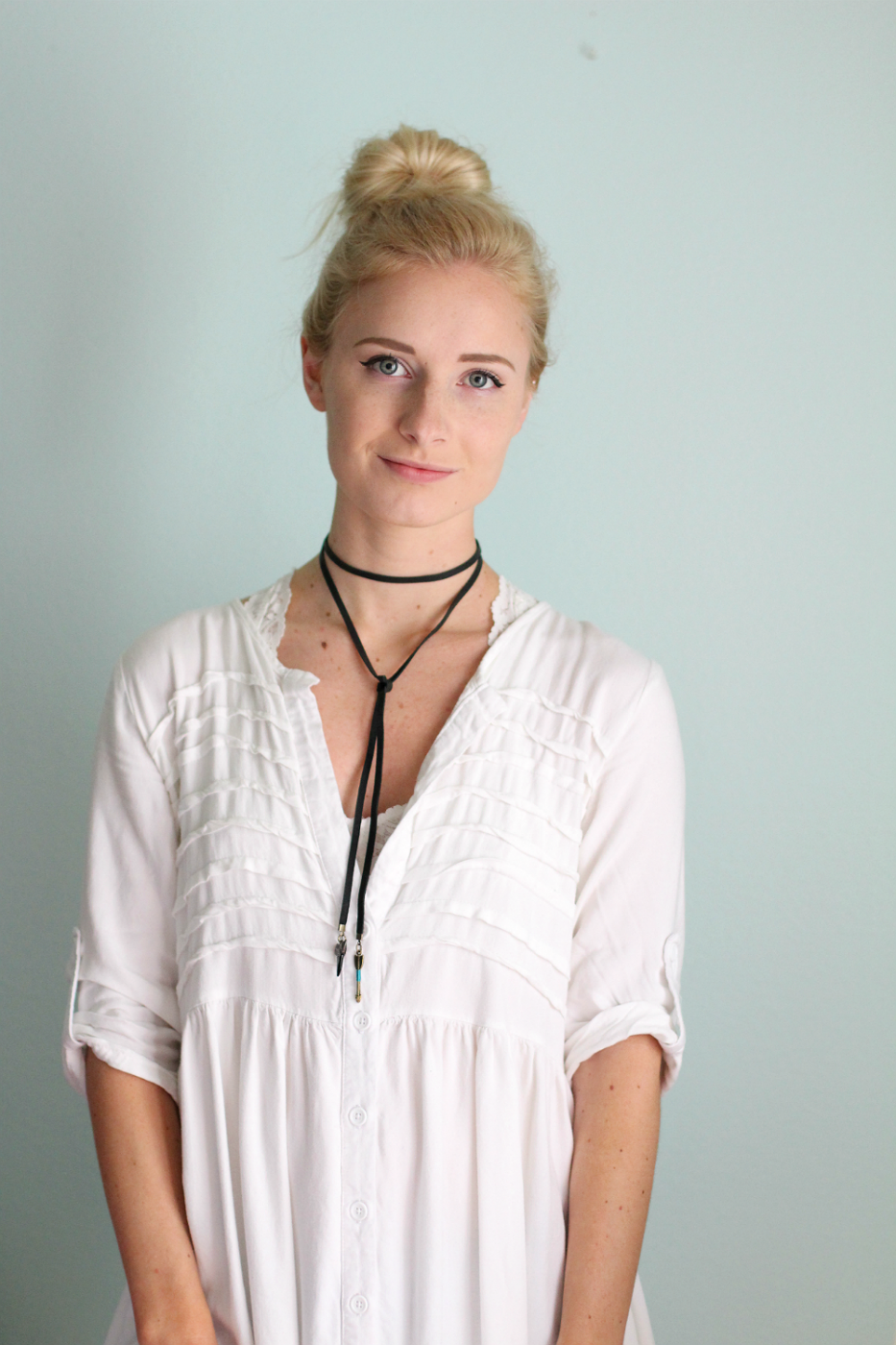 diy boho choker necklace