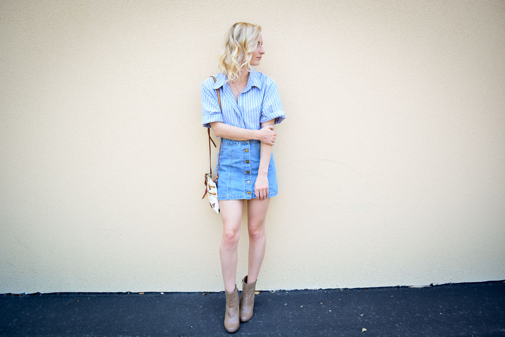 Denim Skirt & A Button Down