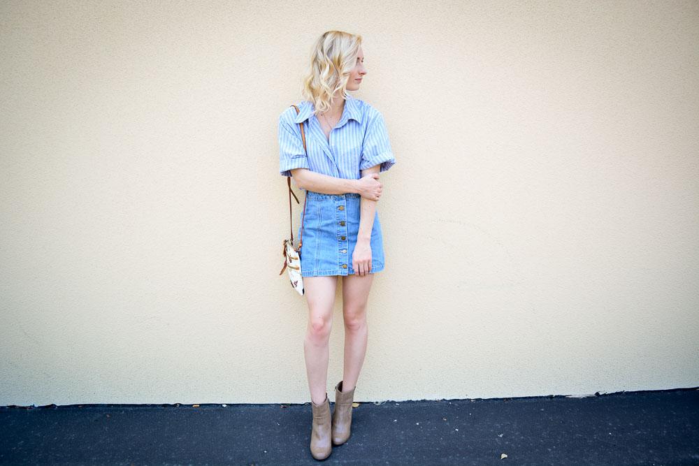 Denim Skirt & A Button Down