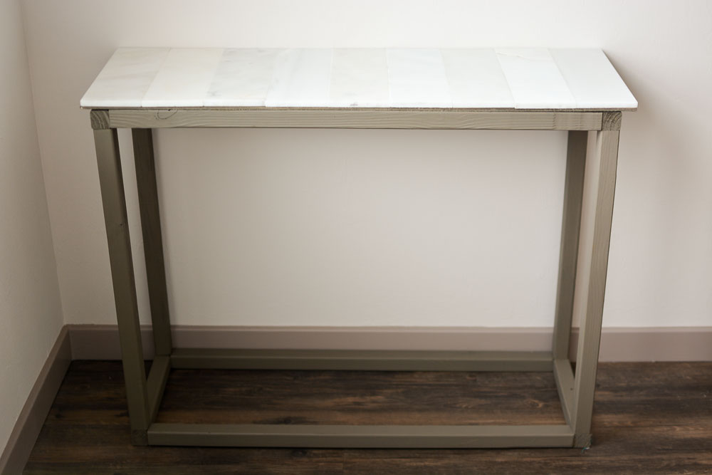 How To Make A Marble Entryway Table