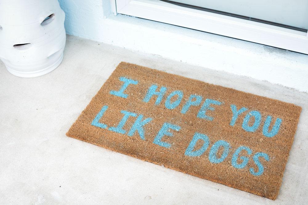 DIY Painted Doormat