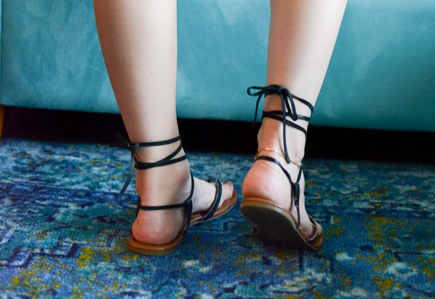 shoe fix: diy lace-up sandals