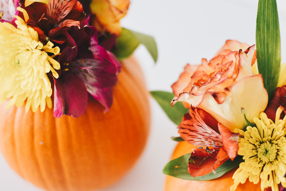 Sweet Teal DIY Flowered Pumpkins for Fall