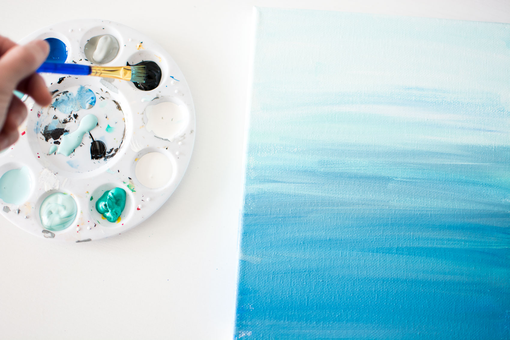 DIY Ocean Wall Art Tutorial
