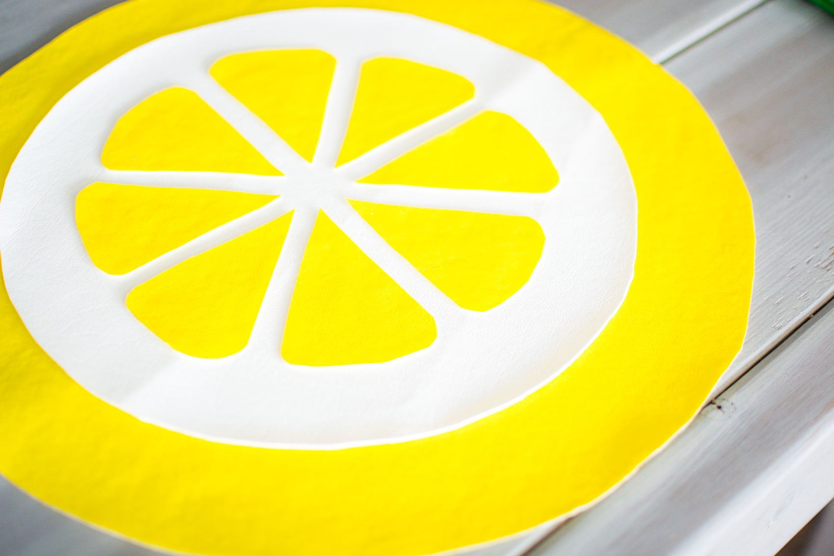 Easy DIY Lemon Placemat