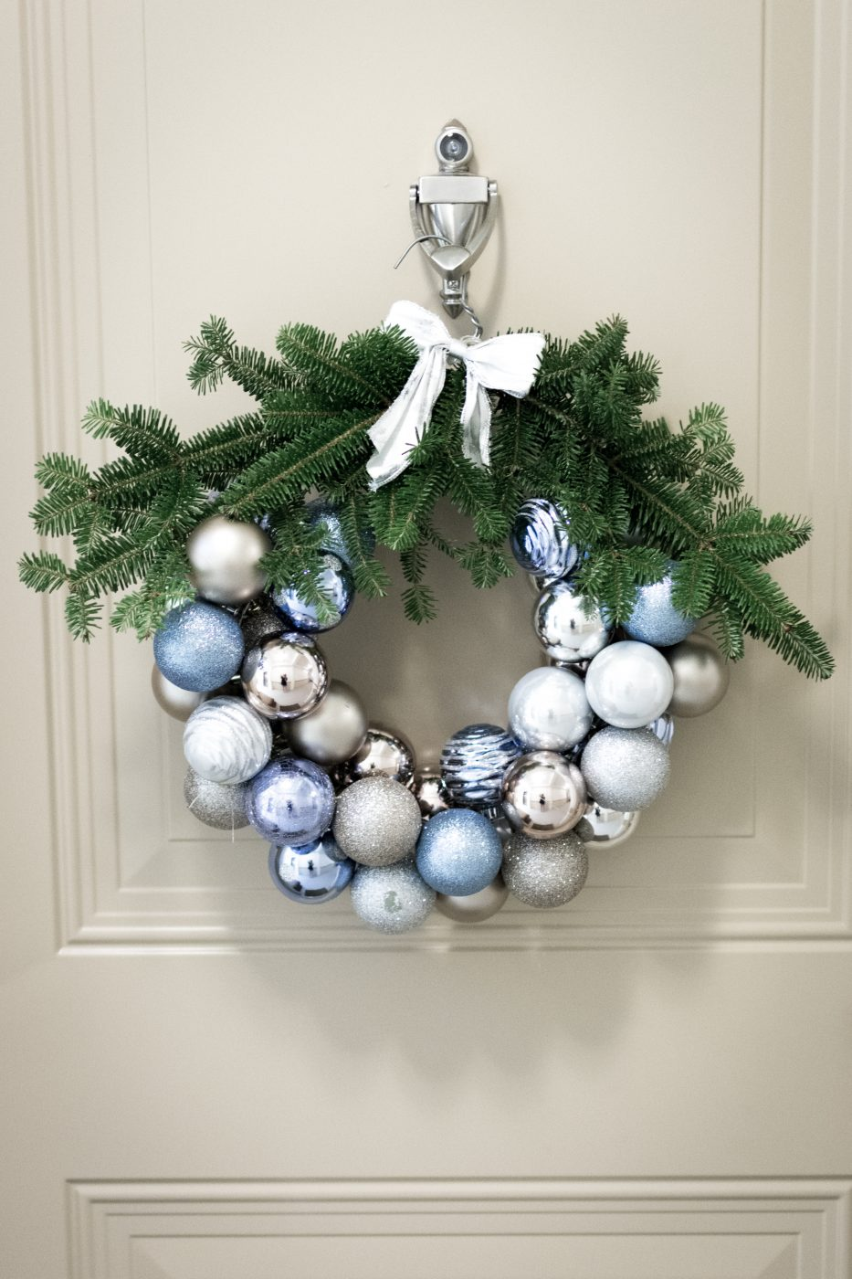 Holiday DIY Christmas Ornament Wreath