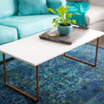 DIY Wood & Copper Coffee Table