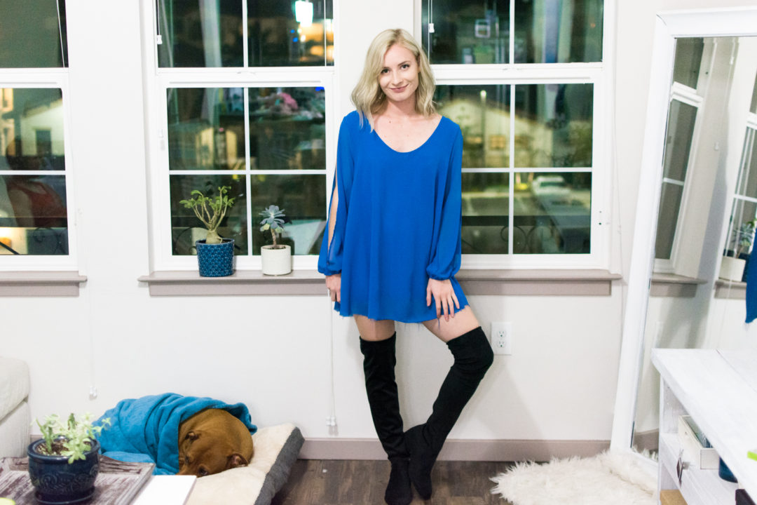 DIY Thigh High Boots by Jenny Bess at Sweet Teal