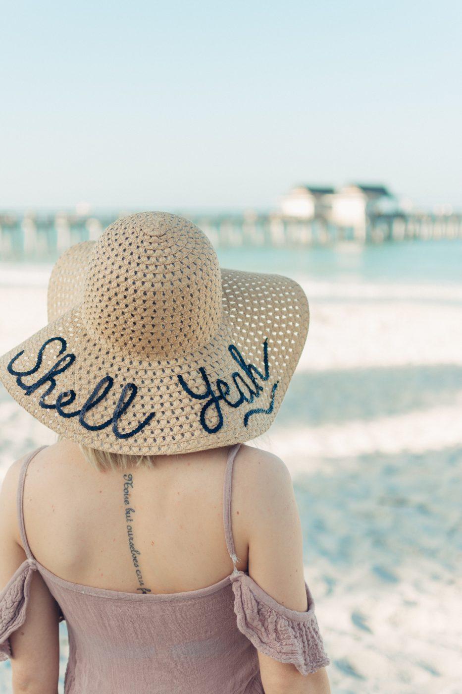 DIY Sequin Script Hat