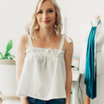 DIY Gathered Tank Top