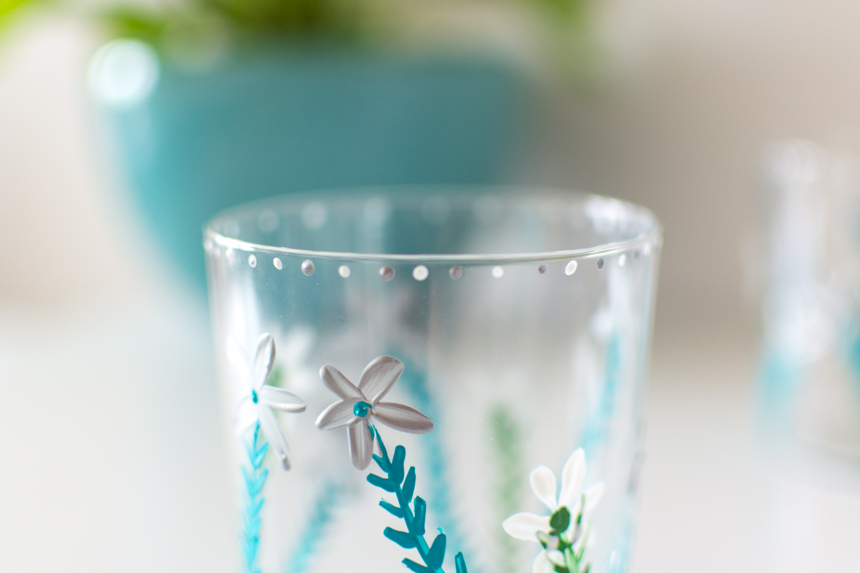 DIY painted floral cup tutorial 6