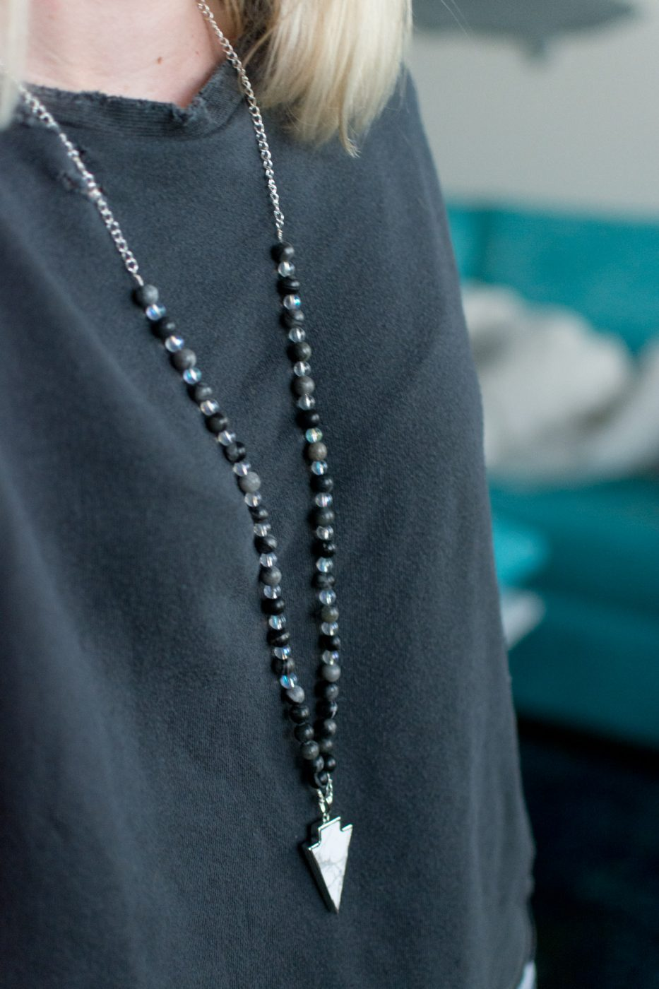 DIY Beaded Bohemian Necklace by Jenny Bess of Sweet Teal