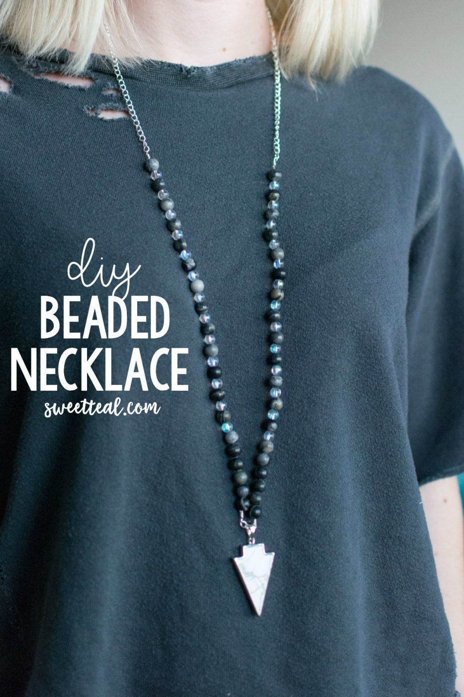 DIY Beaded Necklace by Jenny Bess of Sweet Teal