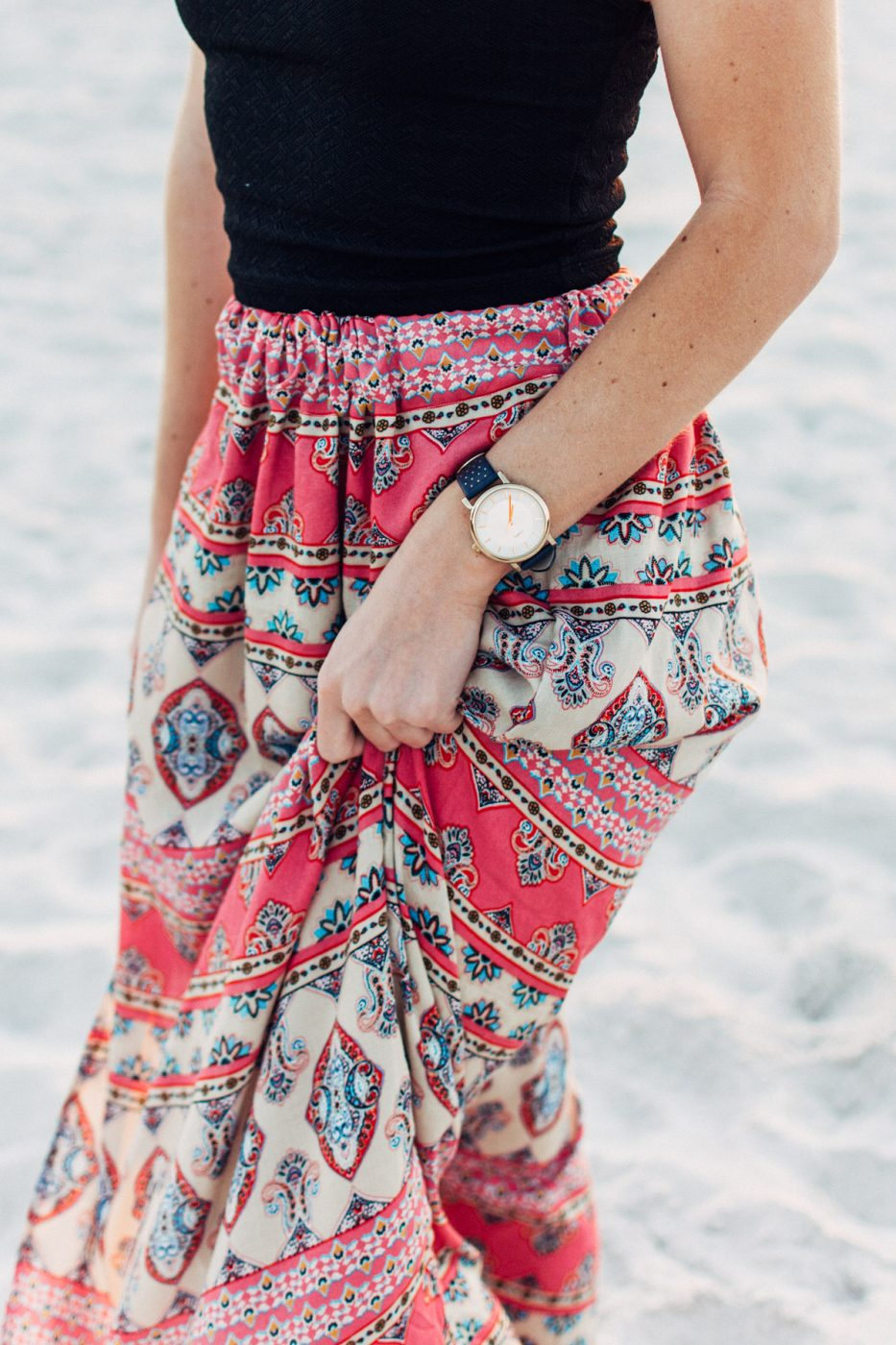 Boho maxi skirt tutorial by Jenny of Sweet Teal