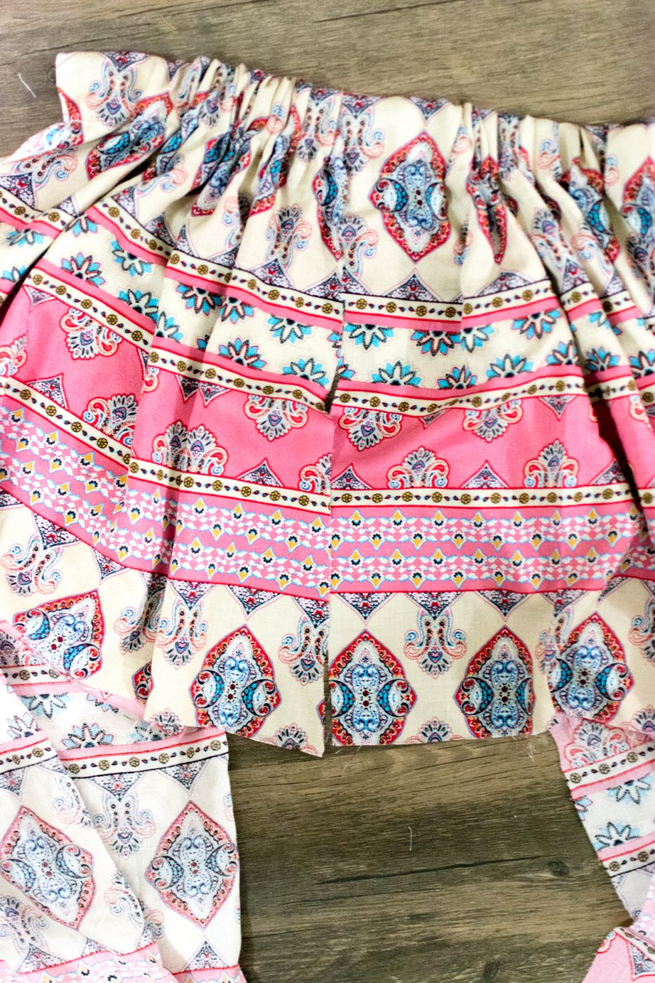 Lining of DIY maxi skirt