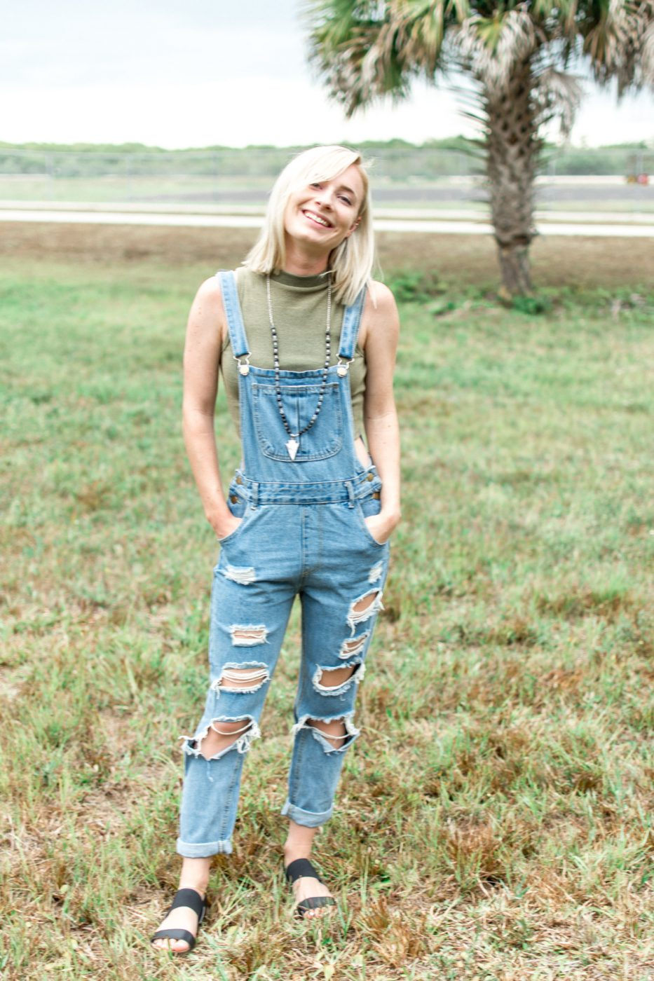 Spring style denim overalls by Jenny Bess
