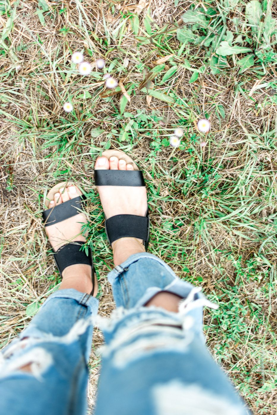 Sandals and denim by Jenny of Sweet Teal