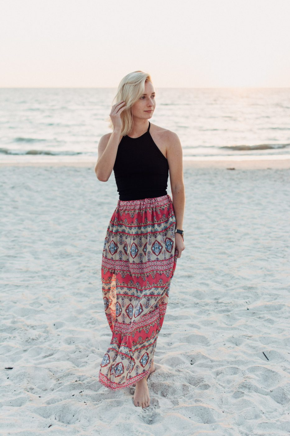 DIY Maxi Skirt (With Lining & A Slit!)