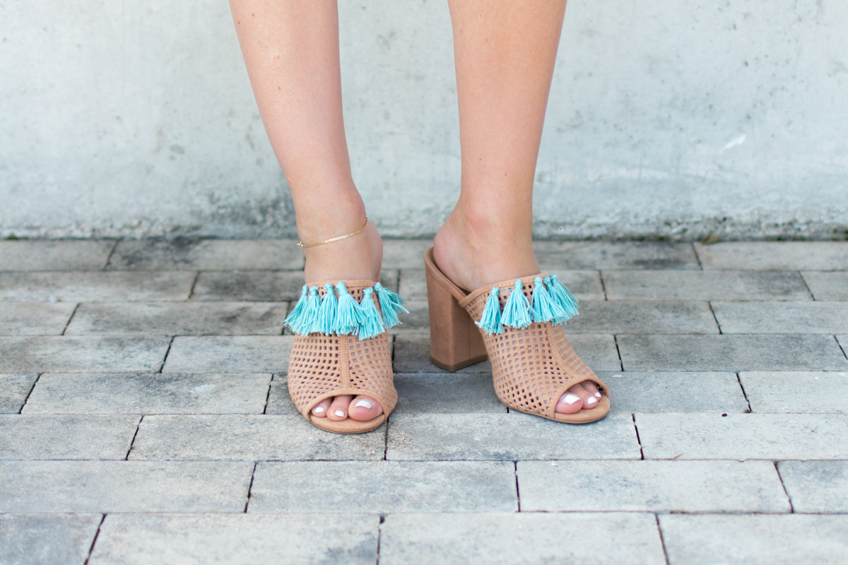 DIY tassel shoes by Jenny of Sweet Teal
