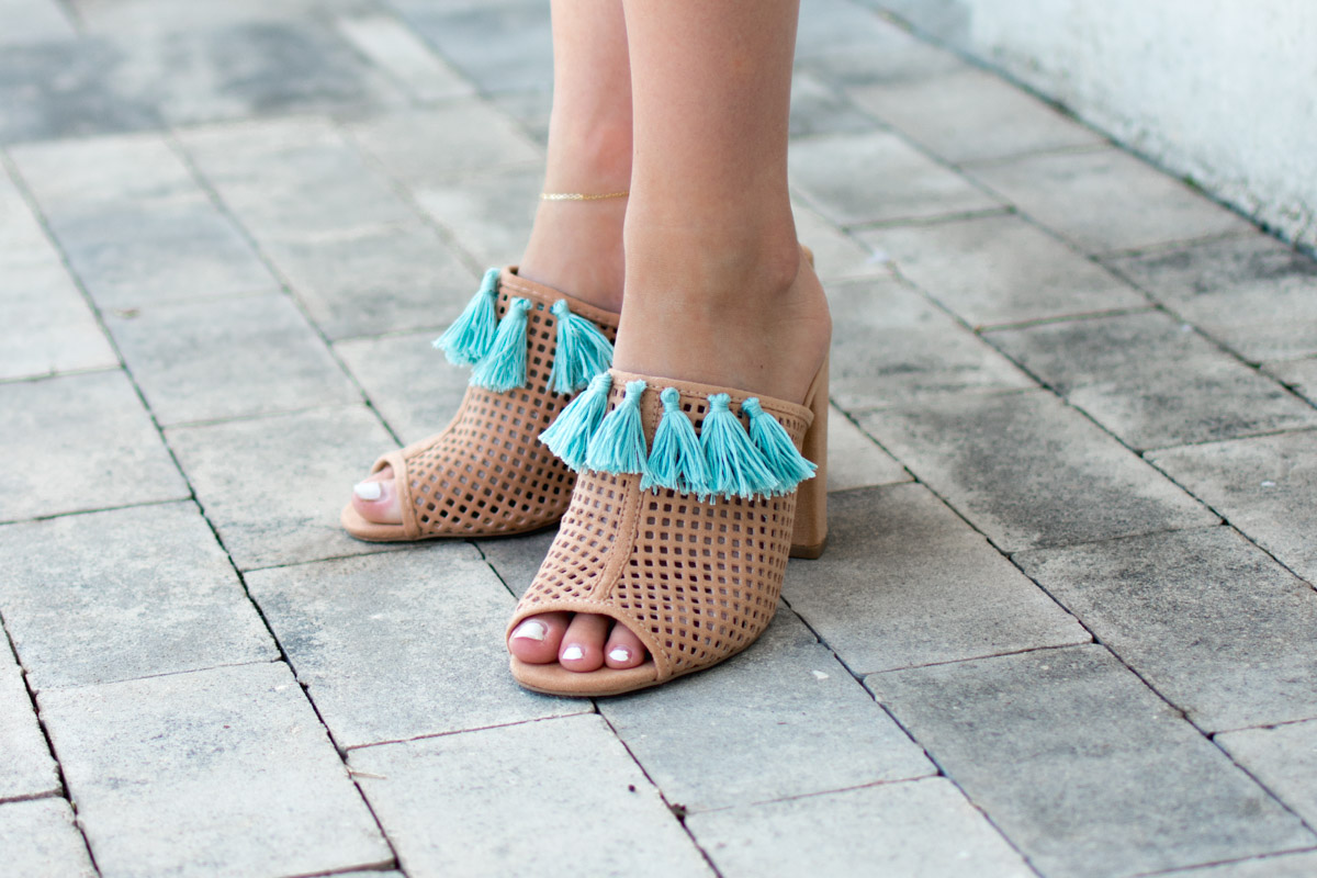 DIY Tassel Mules Shoes by Jenny Bess of Sweet Teal